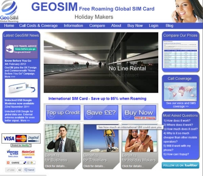 GeoSIM Global SIM Cards